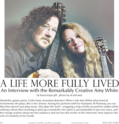 Amy White Interview in Western North Carolina MAgazine